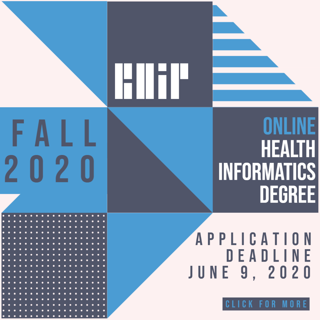 Master of Professional Science in Biomedical and Health Informatics, Carolina Health Informatics Program at UNC-Chapel Hill